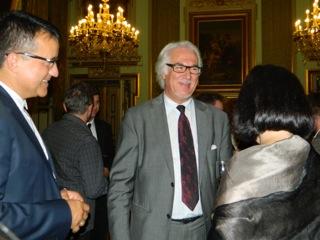 Spotkanie z prof. Małgorzatą Pietruską oraz merem Lyonu w merostwie.