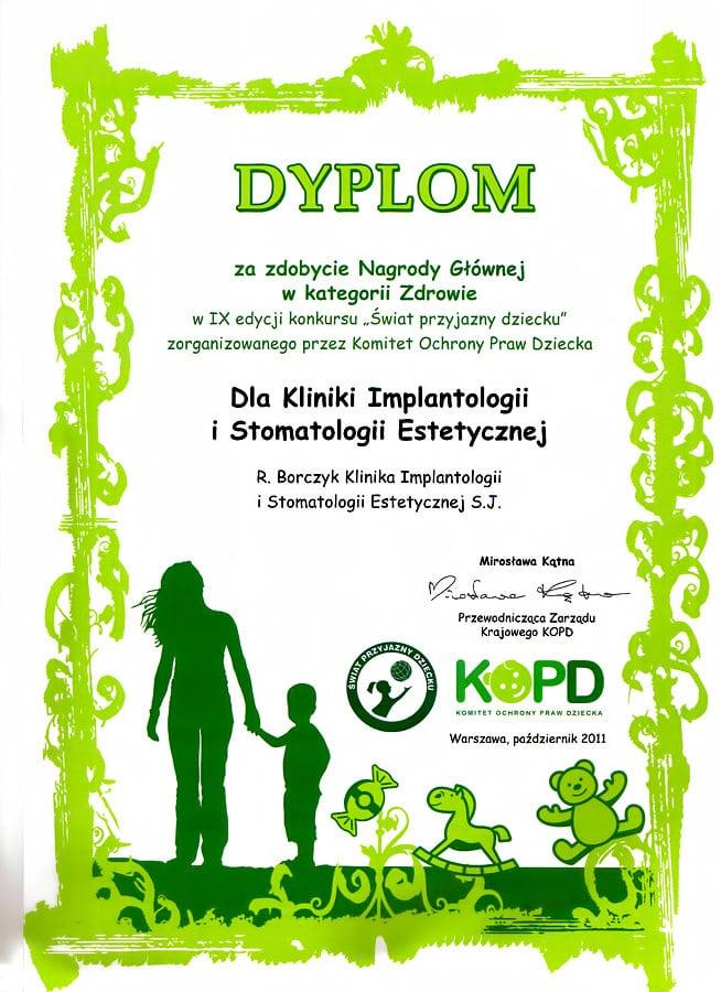 2011 Klinika Przyjazna dziecku