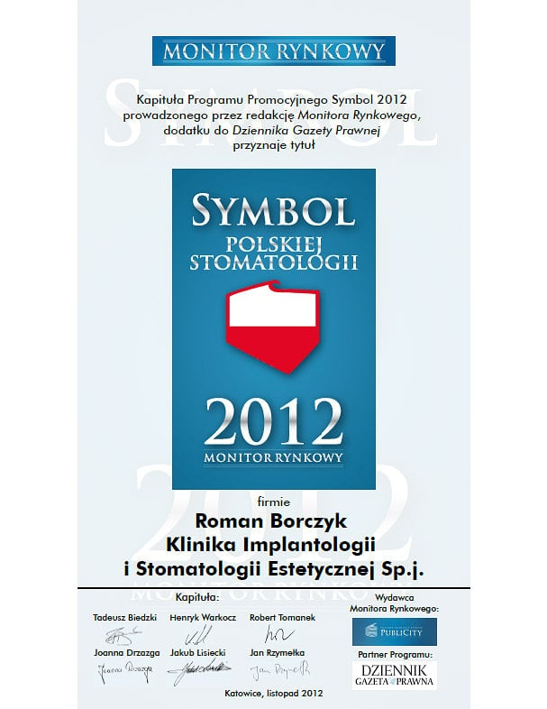 2012 Symbol Polskiej Stomatologii